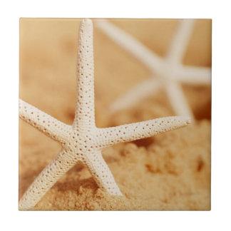 Dos estrellas de mar azulejo cerámica