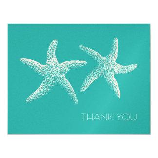 Dos estrellas de mar, laguna azul con monograma le comunicados personalizados