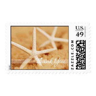 Dos estrellas de mar le agradecen franqueo sello