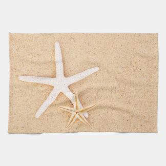 Dos estrellas de mar toallas de mano