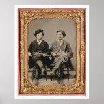 Dos fiddlers, asentados con los instrumentos (4005 póster