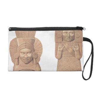 Dos figuras de mujeres de Palenque, pla de la terr