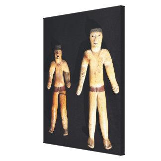Dos figurillas masculinas cultura de Recuay Impresiones De Lienzo