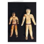 Dos figurillas masculinas, cultura de Recuay Tarjeta De Felicitación