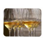 dos filas de los vidrios de la degustación de vino imán rectangular
