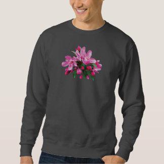 Dos flores de cerezo y brotes sudadera con capucha