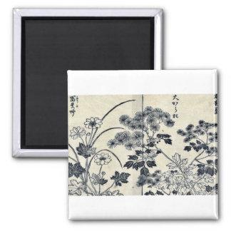 Dos flores de la aguja de los pinos por Tachibana, Imán De Frigorífico