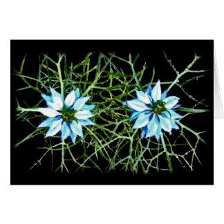 Dos flores de Nigella Felicitacion