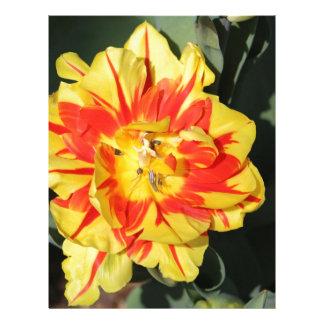 dos flores del tono membrete a diseño
