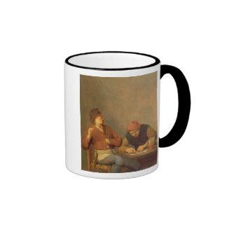 Dos fumadores en un interior, 1643 taza de café