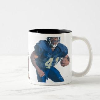 dos futbolistas de los equipos de oposición son taza de café
