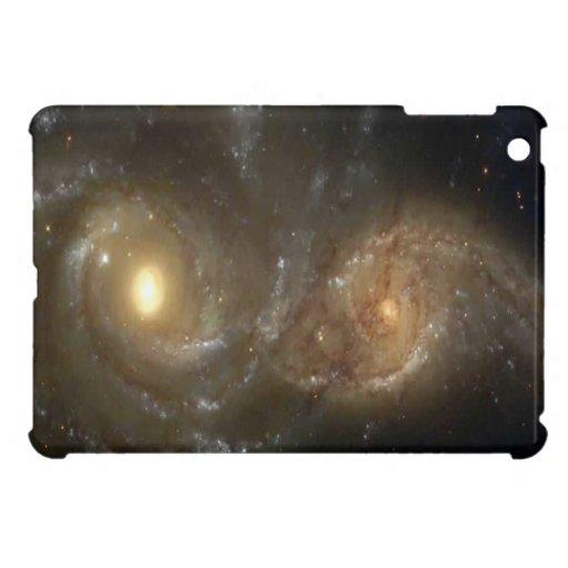 Dos galaxias espirales que chocan en un mini caso  iPad mini cárcasas