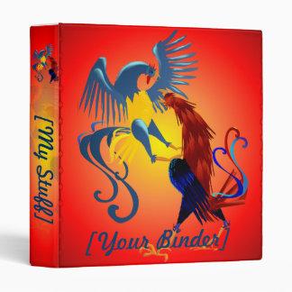 """Dos gallos que luchan coloridos binder_15_back.v4. carpeta 1"""""""