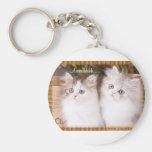 Dos gatitos acogedores lindos llaveros