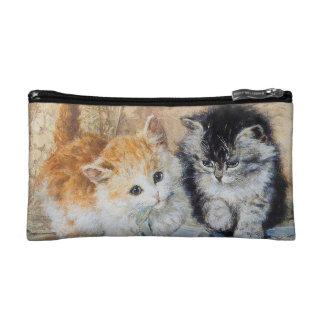 Dos gatitos adorables - bolso del accesorio del vi