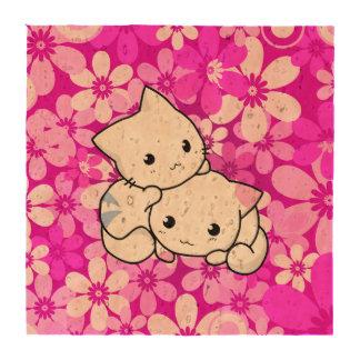 Dos gatitos en fondo rosado posavasos