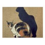 Dos gatos, 1894 postales
