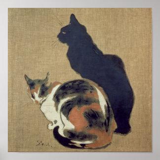 Dos gatos, 1894 póster