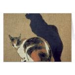 Dos gatos, 1894 tarjeta de felicitación