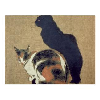 Dos gatos, 1894 postal