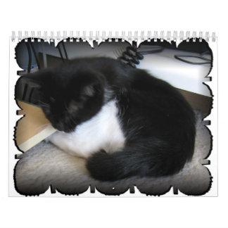 Dos gatos Bobtail nombraron Jacob y Sasha Calendario
