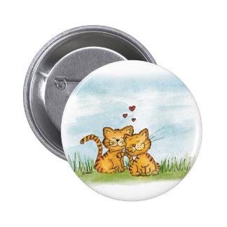 Dos gatos en el amor - ejemplo de la acuarela pins