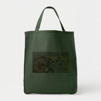 Dos gatos en el amor lindo bolsa