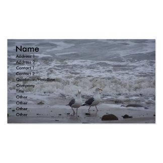 Dos gaviotas plantilla de tarjeta personal
