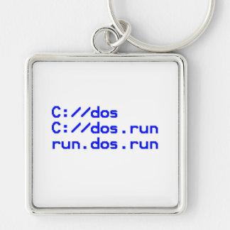 DOS geek joke Keychains