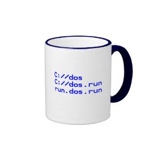 DOS geek joke Ringer Coffee Mug