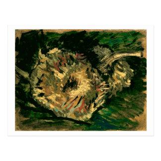 Dos girasoles cortados, bella arte de Van Gogh Postal