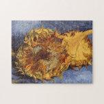 Dos girasoles cortados de Vincent van Gogh Puzzles Con Fotos