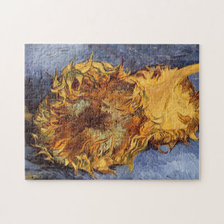 Dos girasoles cortados de Vincent van Gogh Puzzle Con Fotos