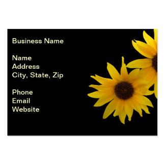 Dos girasoles soleados plantillas de tarjeta de negocio