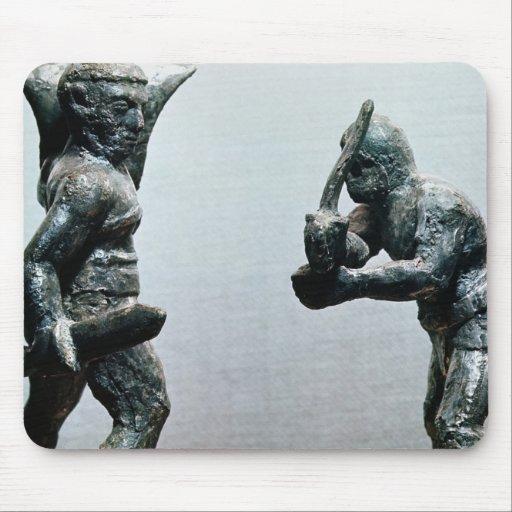 Dos gladiadores en combate alfombrillas de raton