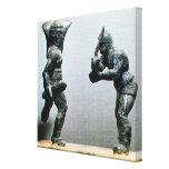 Dos gladiadores en combate lienzo envuelto para galerias