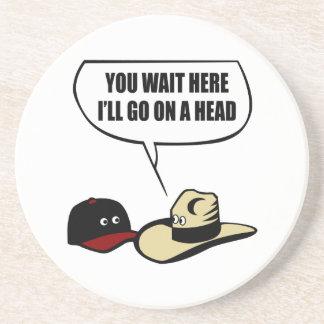 Dos gorras posavasos personalizados