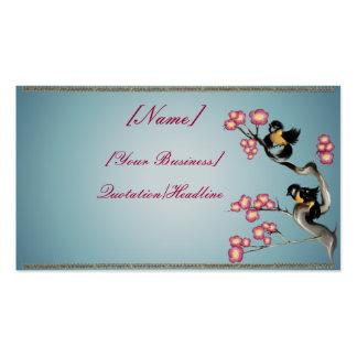 Dos gorriones en un profilecard_business_h de la r tarjetas de visita