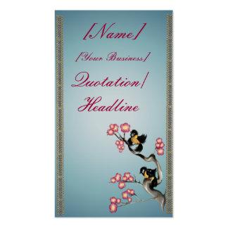 Dos gorriones en un profilecard_business_v de la r tarjetas de visita