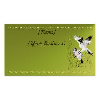 Dos grúas en el profilecard_business_horiz de bamb plantillas de tarjeta de negocio