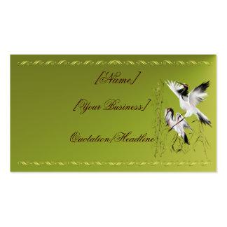 Dos grúas en el profilecard_business_horiz de bamb tarjetas de visita