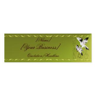 Dos grúas en el profilecard_skinny_horizon de bamb tarjetas de visita mini