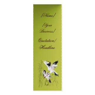 Dos grúas en el profilecard_skinny_vertica de bamb tarjetas de visita mini