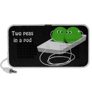 Dos guisantes en una vaina (añada su texto) iPod altavoz