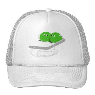 Dos guisantes en una vaina (añada su texto) gorras de camionero