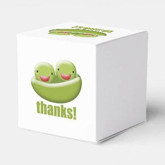 Dos guisantes en una vaina dan gracias cajas para detalles de boda