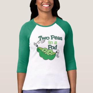 Dos guisantes en una vaina tee shirt