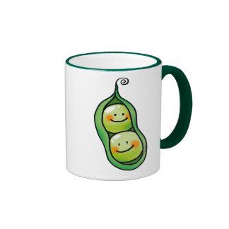 Dos guisantes en una vaina taza de dos colores
