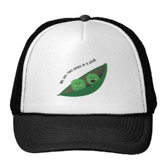 Dos guisantes en vaina gorras