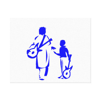 dos guitarristas blue.png lienzo envuelto para galerías